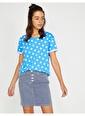Koton Puantiyeli T-Shirt Mavi